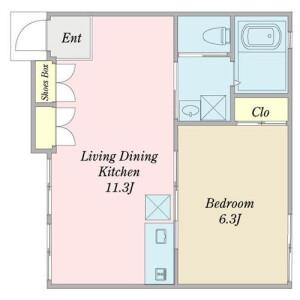 1LDK Mansion in Jiyugaoka - Meguro-ku Floorplan