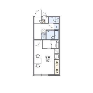 1K Apartment in Kitsunejima - Ina-shi Floorplan