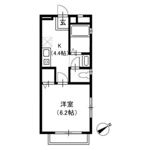 1K Apartment in Miharucho - Yokosuka-shi Floorplan