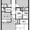 3DK Apartment to Rent in Koto-ku Floorplan