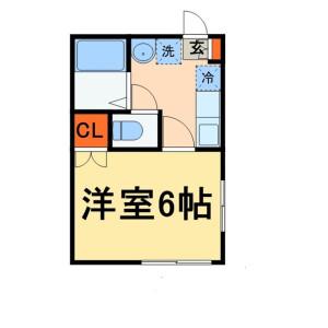 1K Apartment in Hachigasaki - Matsudo-shi Floorplan