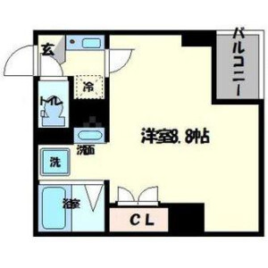 1K Mansion in Motomachi - Osaka-shi Naniwa-ku Floorplan