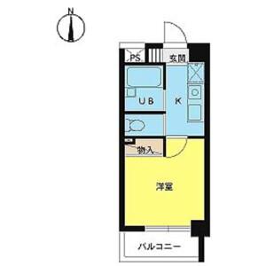 1K Mansion in Tenjincho - Shinjuku-ku Floorplan