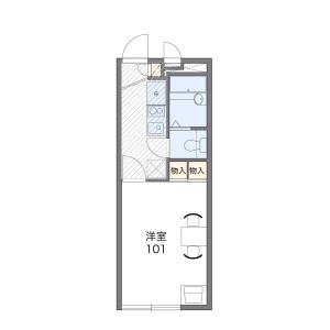 1K Apartment in Kamimaiso - Kitakyushu-shi Moji-ku Floorplan