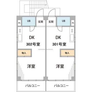 1DK Mansion in Akasaka - Minato-ku Floorplan