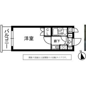 1K {building type} in Omorinishi - Ota-ku Floorplan