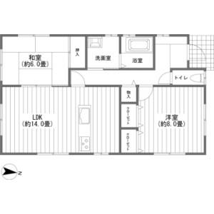 2LDK {building type} in Oiwake - Kitasaku-gun Karuizawa-machi Floorplan