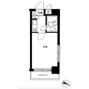 1R {building type} in Honcho - Nakano-ku Floorplan