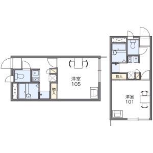 1K Apartment in Fuchinobe - Sagamihara-shi Chuo-ku Floorplan