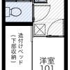 在茨木市內租賃1K 公寓 的房產 房間格局