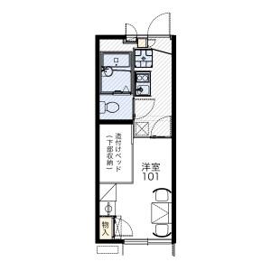 茨木市南春日丘-1K公寓 房間格局