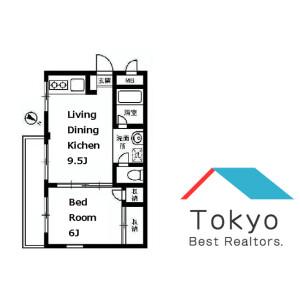 新宿区原町-1LDK公寓大厦 楼层布局