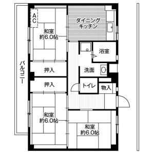 3DK Mansion in Akuwa nishi - Yokohama-shi Seya-ku Floorplan