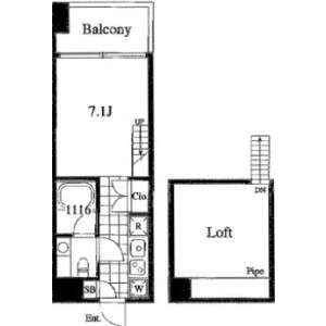 1K Mansion in Takanawa - Minato-ku Floorplan