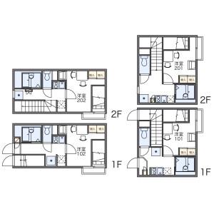 1K Apartment in Tachibana - Sumida-ku Floorplan