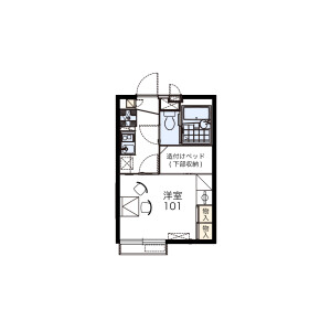 1K Apartment in Kiyokawa - Taito-ku Floorplan