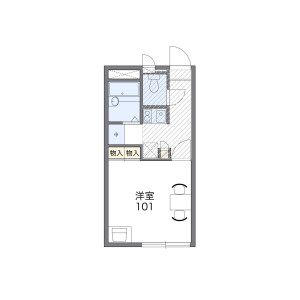 1K Apartment in Mitsuyakita - Osaka-shi Yodogawa-ku Floorplan