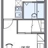 1K Apartment to Rent in Minamikawachi-gun Kanan-cho Floorplan