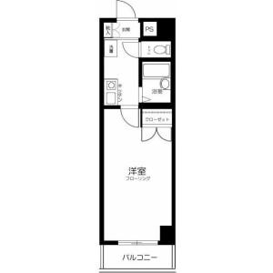 1K Mansion in Iidabashi - Chiyoda-ku Floorplan