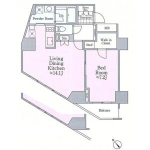 文京區小石川-1LDK公寓大廈 房間格局