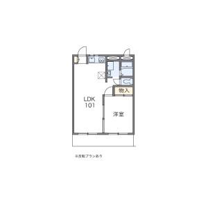 1LDK Apartment in Nisshincho - Fuchu-shi Floorplan