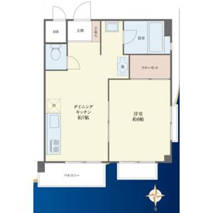 1DK {building type} in Okusawa - Setagaya-ku Floorplan