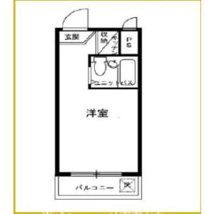 1R {building type} in Chuo - Nakano-ku Floorplan