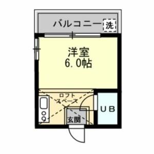 川崎市多摩区 東生田 1R アパート 間取り