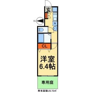 1K Apartment in Yamazaki - Noda-shi Floorplan