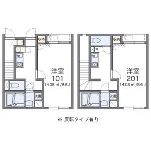 1K Apartment in Nishimachi - Saitama-shi Iwatsuki-ku Floorplan