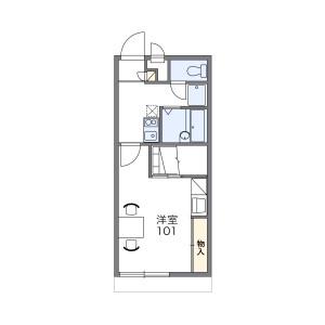 1K Apartment in Shikamaku agamiyacho - Himeji-shi Floorplan