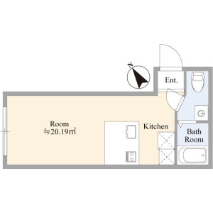 1K Mansion in Minamirokugo - Ota-ku Floorplan