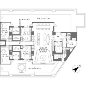 虻田郡倶知安町山田-4LDK{building type} 楼层布局