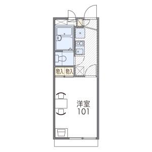 1K Apartment in Kumanocho - Toyonaka-shi Floorplan