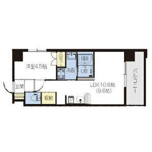 1LDK Mansion in Tomoi - Higashiosaka-shi Floorplan