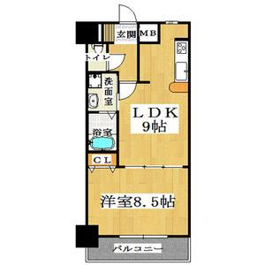 1LDK Mansion in Shimanochi - Osaka-shi Chuo-ku Floorplan