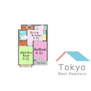 中野区中野-2DK公寓大厦 楼层布局