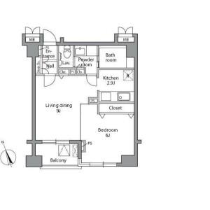 1LDK Mansion in Nakane - Meguro-ku Floorplan