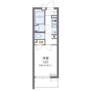 1K Apartment in Chuo - Ota-ku Floorplan