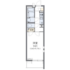 1K Apartment in Minamiosawa - Hachioji-shi Floorplan
