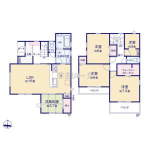 4LDK {building type} in Izumicho - Nishitokyo-shi Floorplan