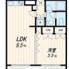 1LDK Apartment to Rent in Kawasaki-shi Takatsu-ku Floorplan