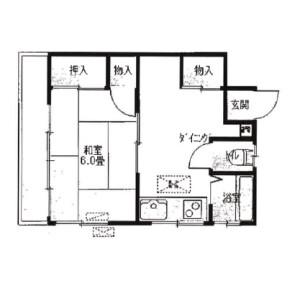 1DK Apartment in Chuo - Ota-ku Floorplan
