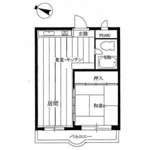 1LDK {building type} in Sajima - Yokosuka-shi Floorplan