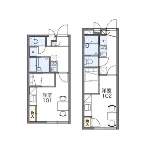 1K Apartment in Tanaka nogamicho - Kyoto-shi Sakyo-ku Floorplan