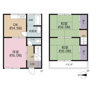 3DK Apartment in Atsugawa - Sakado-shi Floorplan