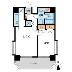 1LDK Mansion in Ikejiri - Setagaya-ku Floorplan