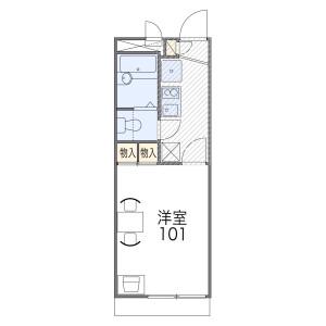 1K Apartment in Momoyama kosetsucho - Kyoto-shi Fushimi-ku Floorplan