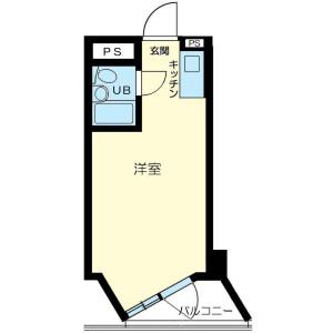 1R Mansion in Shibaura(2-4-chome) - Minato-ku Floorplan