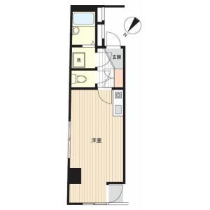 1R Mansion in Iwamotocho - Chiyoda-ku Floorplan